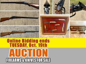 ONLINE AUCTION featuring Double Barrel Shotguns, Rifle, Knives featured photo 1