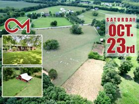 Nice 3 BR, 2 BA Brick Home on 64+/- Acres - Offered in 5 Tracts with Barns, Ponds, Pasture and Hardwood Trees! featured photo 1
