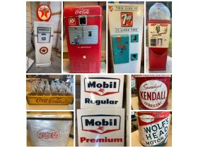 Collectibles, Petroliana, Vintage Signs, Antiques, Toys & More at Absolute Online Auction featured photo 1
