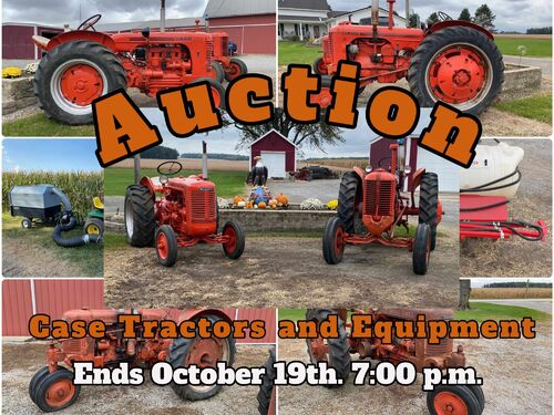 Mike and Gail Clark Case Tractor Auction featured photo