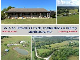 Court Ordered Auction 75 +/- Acres, Home & Outbuildings, 18479 Hwy. RA, Martinsburg, MO featured photo 1