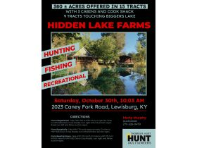 HIDDEN LAKE FARMS - 380 +/- ACRES SELLING IN 15 TRACTS featured photo 1