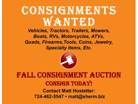 Fall Consignment Auction - Beaver Falls, PA featured photo 1